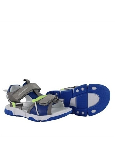 Kids A More Marvin Çift Cırtlı Deri Erkek Çocuk Sandalet  Gri